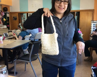 Small crocheted bag
