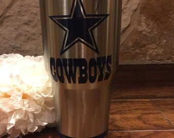 Dallas Cowboys Personalized Double Wall Insulated Yeti-Like Stainless Steel Tumbler