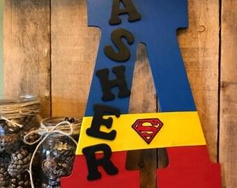 Superhero Name Wreath