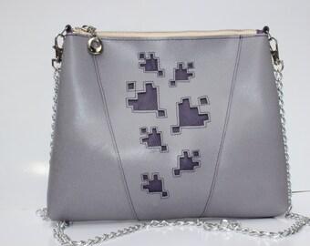 Leather bag, Lavender small bag