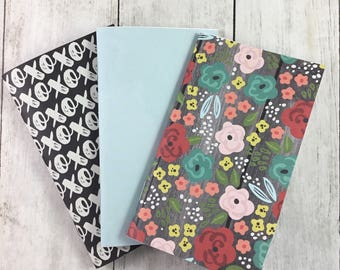 "3""x5"" Notebook, Blank Paper Notebook,  Set of Notebooks, Mini Notebooks, Mini Journal, Journal Set, Notebook Set 3x5115"