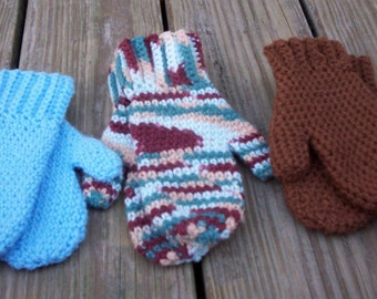 Mittens - Basic - Crocheted - Warm