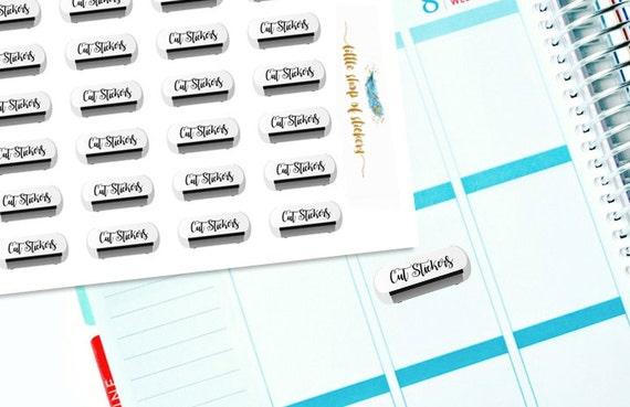 Silhouette Stickers || Sticker Cutting Machine, Planner Stickers, Item Stickers, Planner Decor, Decorating Stickers, Silhouette Machine