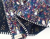 Rifle Paper Co Wonderland Quilt-Modern Wholecloth Baby Quilt-Modern Baby Girl Quilt-Baby Quilt Blanket-Handmade Baby Quilt