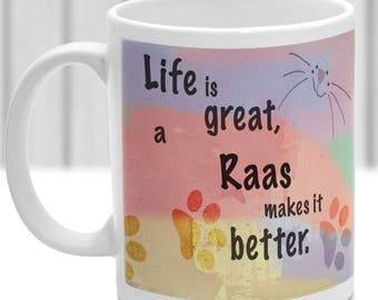 Raas cat mug, Raas cat gift, ideal present for cat lover