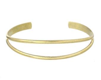 Bracelet Bangle band brass Brut Vintage Style - Bracelet Vintage - Bracelet brass crude - Gold Bracelet