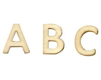 Mini wooden - wooden Alphabet - 162 letters letters - 11006471