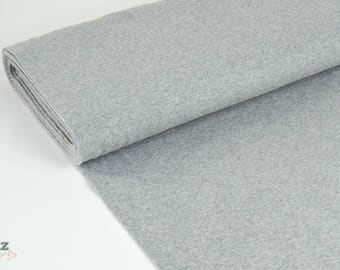 Cuff uni Extrabreit light grey mottled - fine knitting