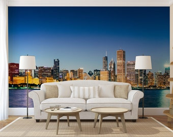 Chicago Wall Art chicago wall decal | etsy