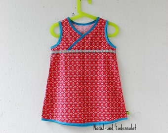 Toddler Dress, Dress, Cotton Dress, Red Cotton Dress with small Hearts