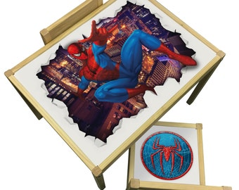 Spiderman Table and Chairs Set - Perfect for Bedrooms & Playrooms