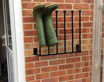Aluminium Wellington Boot Rack Wall Mounted Welly Rack