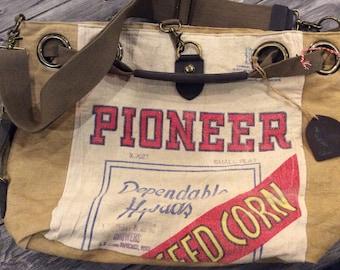 Vintage Seed Bag Tote