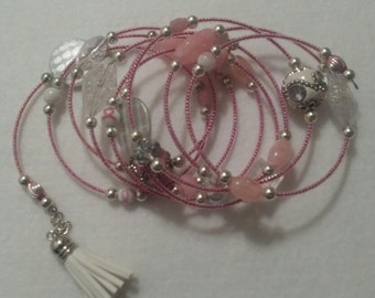 Breast Cancer Wrap Bracelet