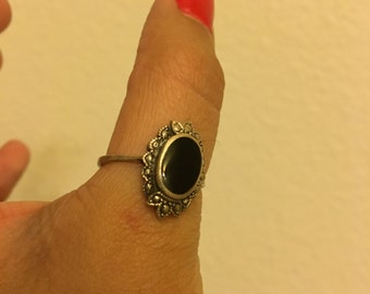 Silver Onyx Ring