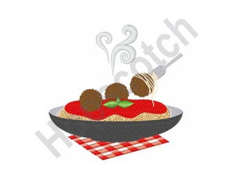 Spaghetti and Meatballs- Machine Embroidery Design