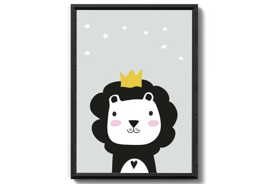 Lion with and without Crown art print unframed family gift family fine art print