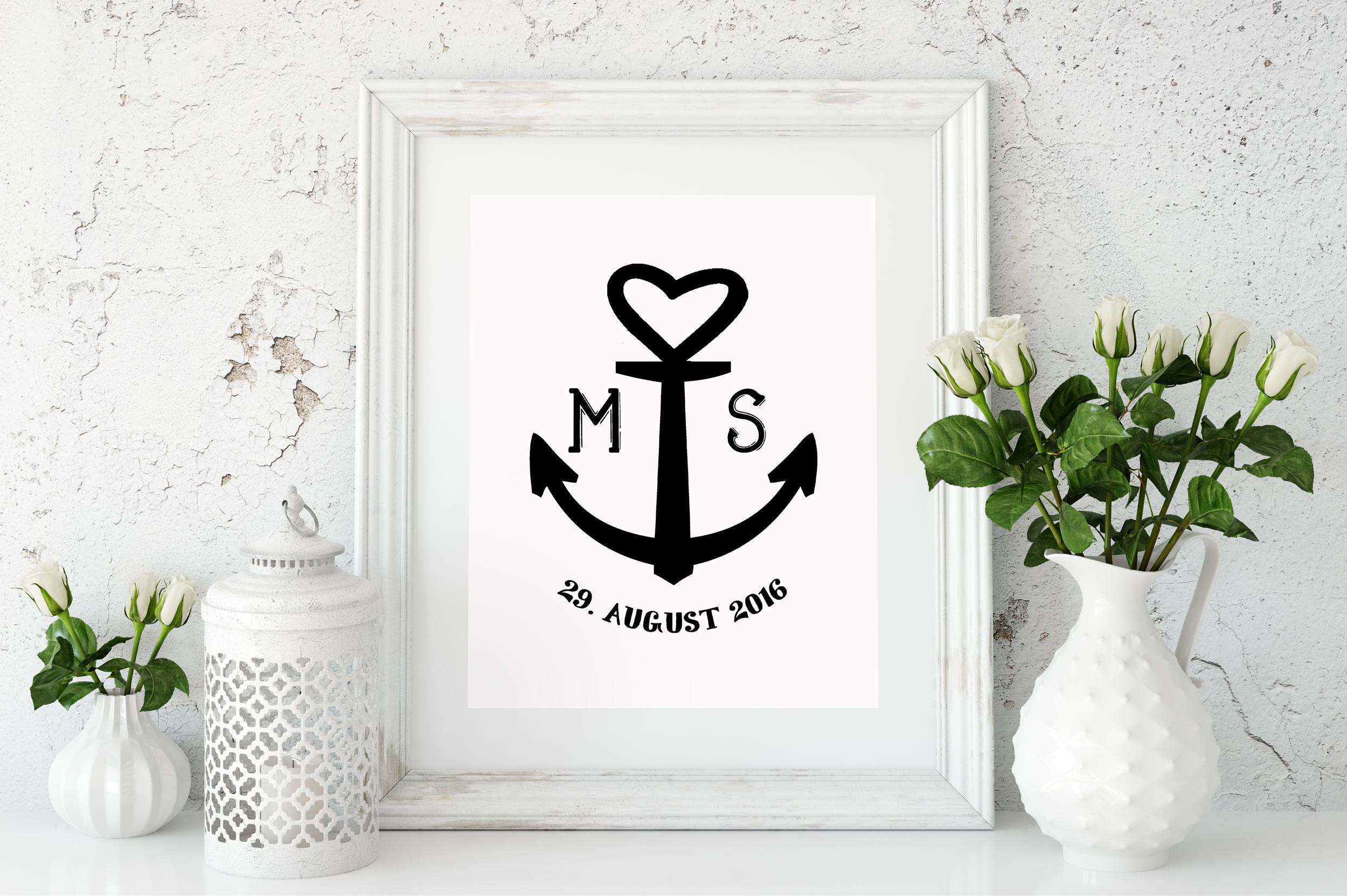 Art Print Wedding Gift : Wedding gift anchor family art print, fine art print