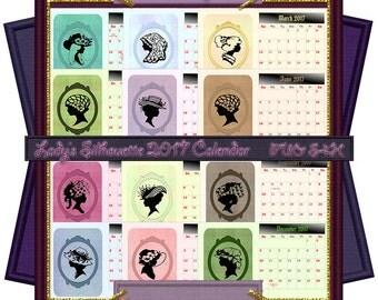 Clearance Sale - Mrs Smith 2017 Calendar A4 Sheets (PU,S4H) Scrapbook
