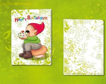 Happy Birthday Folding Card