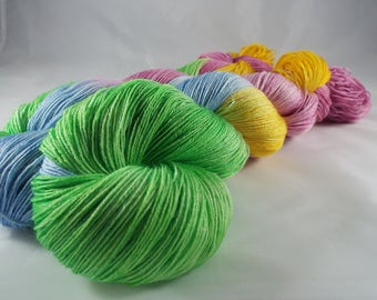 hand-dyed lace yarn, Merino and silk