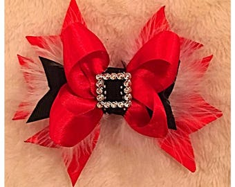 Santa Suit Hair Bow