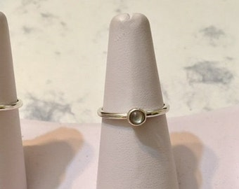 USA-FREE SHIPPING!!  Silver Ring with Cabochon Stone- Stackables- Special Order Item