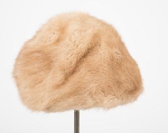 1960's blonde mink winter cap