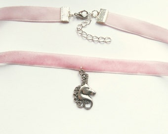 Pink Unicorn Choker   Pastel Goth Choker  