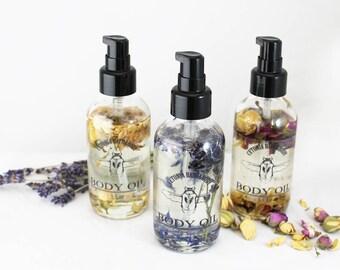 Infused & Scented Body Oil / hair oil / lavender rose Jasmine / coconut oil jojoba oil argan oil