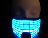 Equalizer Sound Activated LED Rave Mask for DJ, Edc, Ultra, Music Festival, Concerts, Club, EDM, Cyber, Costume, Cosplay, GoGo, Dance, Music