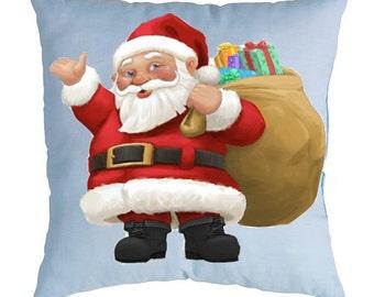 Christmas pillow Santa Claus Holiday gift