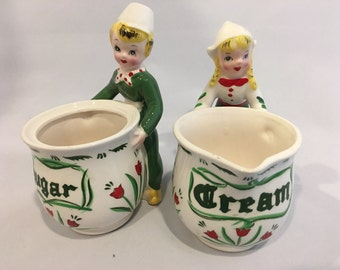 Vintage Shafford Tulip Tyme Cream and Sugar