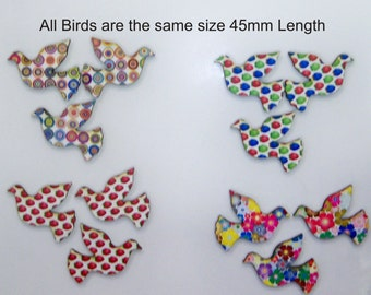 12 Small birds 4 different patterns