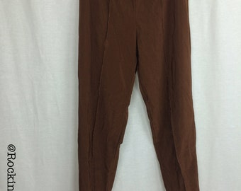 Stirrup 80's Ribbed Brown Leggings Size Large