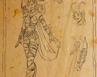 Custom character sketch/drawing