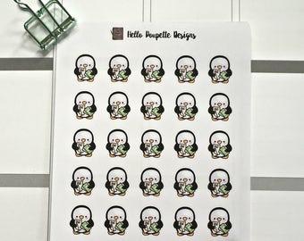 Poppy the penguin mini stickers - Bills