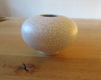 Delete ceramic 50s design Craquelle vase
