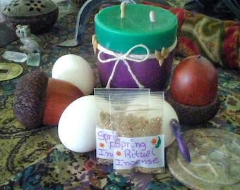 Spring Ritual Incense Blend/ Incense Powder/ Apothecary
