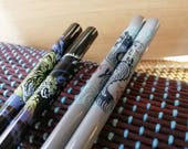 Rare Chinese Dragon and Tiger Chopsticks (set of 2 pairs)
