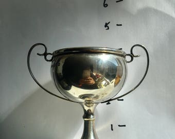 mappin and webb sterling silver trophy  hallmarked 1930s  no engraving and stand