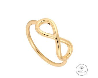 "18 gold plated ring ""Infinity"""