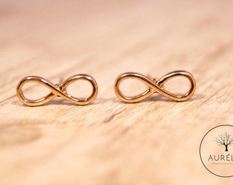 Rosé gold infinity earrings