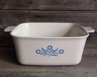 Vintage Corning Ware Blue Cornflower Casserole Dish P4B