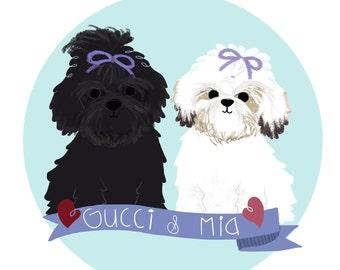 Pets Illustrations / artwork custom pets
