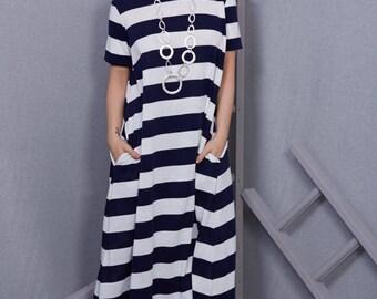 Beautiful nautical free size jersey summer dress
