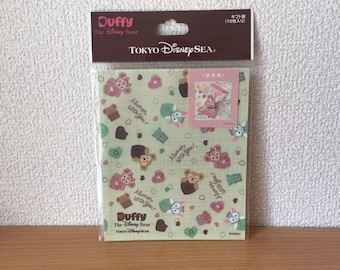 Tokyo Disney Sea Sweet Duffy 2017 Valentine exclusive Duffy ShellieMay Gelatoni gift wrapping bags 10P