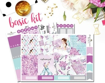 PLANNER GIRL Planner Stickers for use with Erin Condren Life Planner/Weekly Planner Sticker Kit/Sticker Set