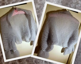GREY SHRUG thumb hole shrug camel shrug loose knit, lightweight cover up