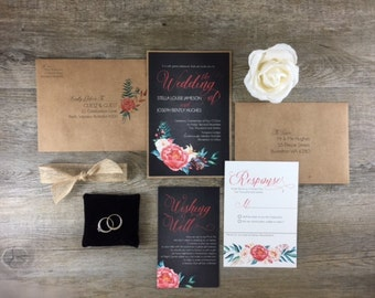 Invitation Suite | Peony Love | Rustic Vintage Wedding Invitations
